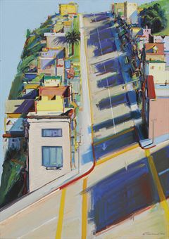 Thiebaud's &quot;Ripley Street Ridge&quot;