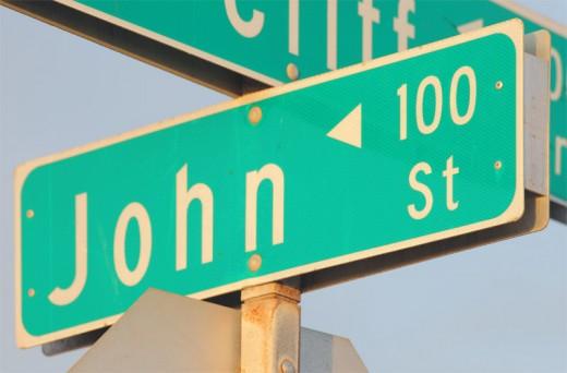 John Street Sign