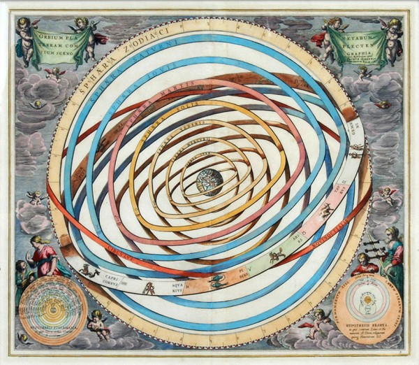 A Celestial Chart Of Andreas Cellarius