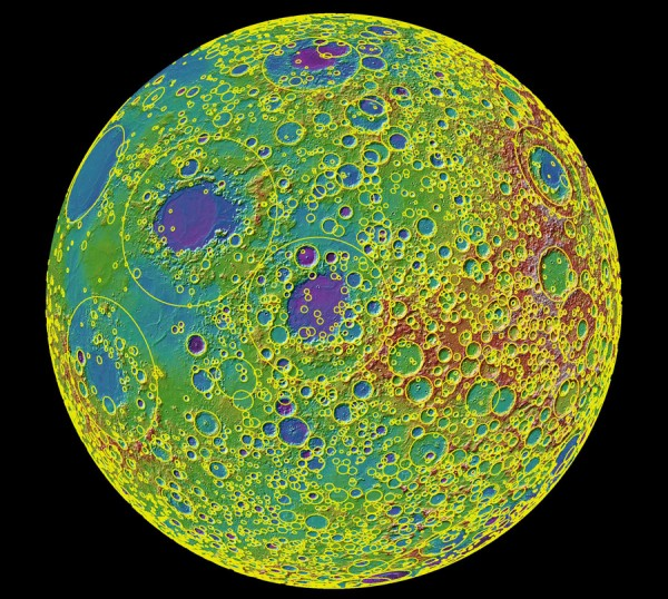 LRO Moon Crater Map
