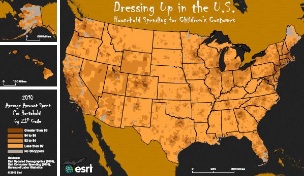 Esri's Costume Spending Map