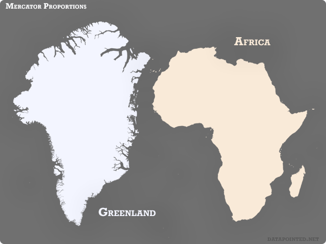 Reverse mercatorisms flip flopped mercator map distortions mercator greenland africa gumiabroncs Gallery