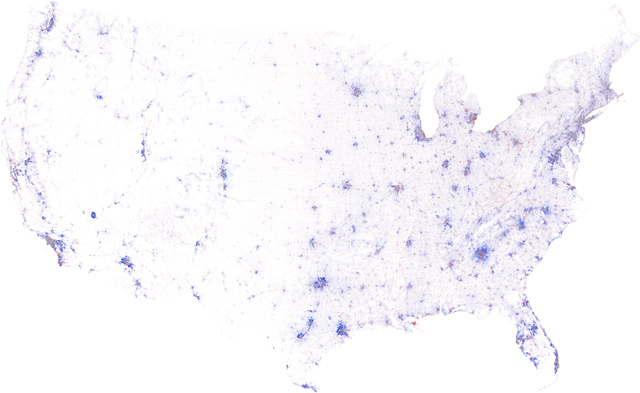 Growth Rings Maps Of US Population Change - 2010 us population density map