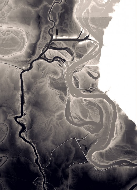 Mississippi Atchafalaya Elevation Map
