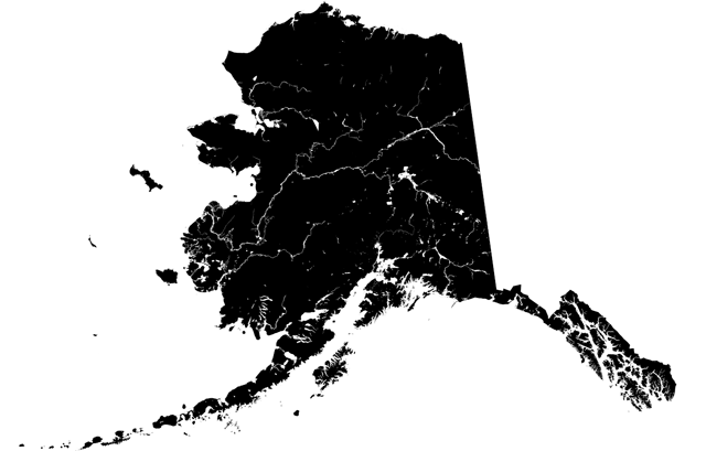 Mostly Uninhabited Alaska